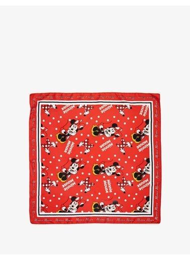 Koton Minnie Mouse Lisansli Fular Kırmızı